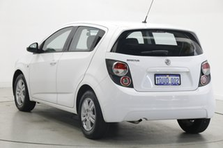 2011 Holden Barina TM White 5 Speed Manual Hatchback.