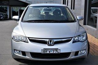 2008 Honda Civic 8th Gen MY08 Hybrid Silver 1 Speed Constant Variable Sedan Hybrid.