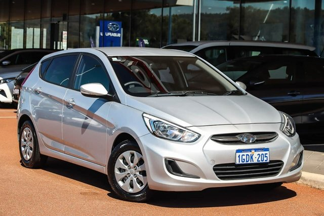 Used Hyundai Accent RB4 MY16 Active Gosnells, 2016 Hyundai Accent RB4 MY16 Active Silver 6 Speed Constant Variable Hatchback
