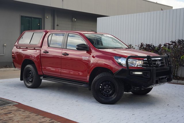 Used Toyota Hilux GUN126R SR Double Cab Cairns, 2018 Toyota Hilux GUN126R SR Double Cab Red 6 Speed Sports Automatic Utility