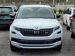 2020 Skoda Kodiaq NS MY21 RS DSG White 7 Speed Sports Automatic Dual Clutch Wagon.