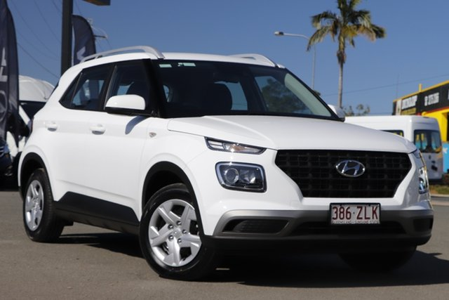 Used Hyundai Venue QX MY20 Go Rocklea, 2019 Hyundai Venue QX MY20 Go Polar White 6 Speed Manual Wagon