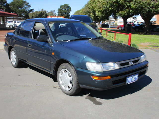 Used Toyota Corolla Conquest Katanning, 1998 Toyota Corolla AE102R 4D Sedna Conquest Green 4 Speed Automatic Sedan