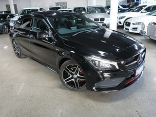 2016 Mercedes-Benz CLA-Class X117 807MY CLA250 Shooting Brake DCT 4MATIC Sport Black 7 Speed.