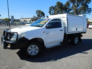 2012 Toyota Hilux KUN26R MY12 Workmate White 5 Speed Manual Cab Chassis.