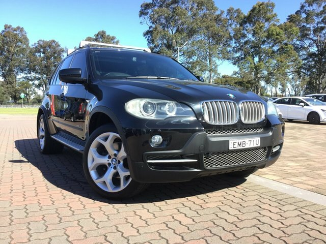 Pre-Owned BMW X5 E70 MY09 xDrive30d Steptronic Warwick Farm, 2009 BMW X5 E70 MY09 xDrive30d Steptronic Black 6 Speed Sports Automatic SUV
