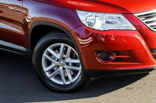 2009 Volkswagen Tiguan 5N MY09 103TDI 4MOTION Red 6 Speed Sports Automatic Wagon