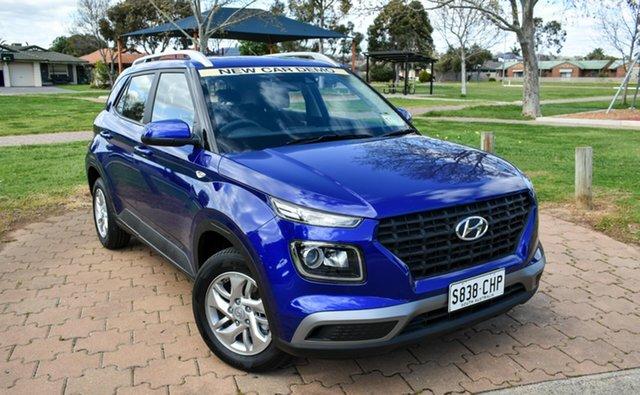 Demo Hyundai Venue QX.V3 MY21 Ingle Farm, 2021 Hyundai Venue QX.V3 MY21 Intense Blue 6 Speed Automatic Wagon