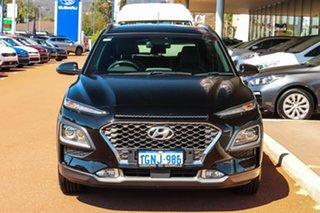 2017 Hyundai Kona OS MY18 Elite 2WD Black 6 Speed Sports Automatic Wagon.