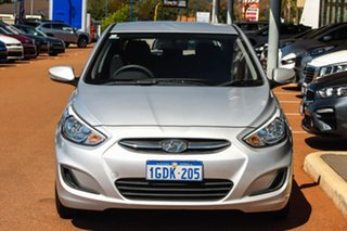 2016 Hyundai Accent RB4 MY16 Active Silver 6 Speed Constant Variable Hatchback.