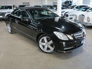 2011 Mercedes-Benz E-Class A207 E350 7G-Tronic Avantgarde Black 7 Speed Sports Automatic Cabriolet.