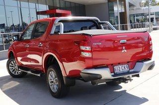 2016 Mitsubishi Triton MQ MY16 GLS Double Cab Red 5 Speed Sports Automatic Utility.