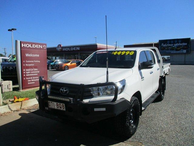 Used Toyota Hilux GUN126R SR Double Cab North Rockhampton, 2017 Toyota Hilux GUN126R SR Double Cab White 6 Speed Manual Utility