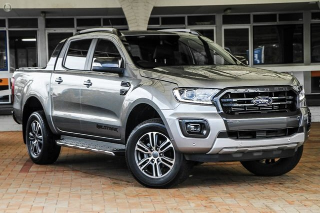 New Ford Ranger PX MkIII 2021.25MY Wildtrak Oakleigh, 2021 Ford Ranger PX MkIII 2021.25MY Wildtrak Silver 10 Speed Sports Automatic Double Cab Pick Up