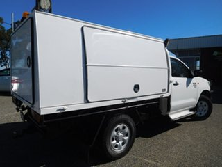 2012 Toyota Hilux KUN26R MY12 Workmate White 5 Speed Manual Cab Chassis