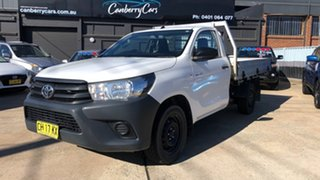 2016 Toyota Hilux TGN121R Workmate White 6 Speed Automatic Cab Chassis.