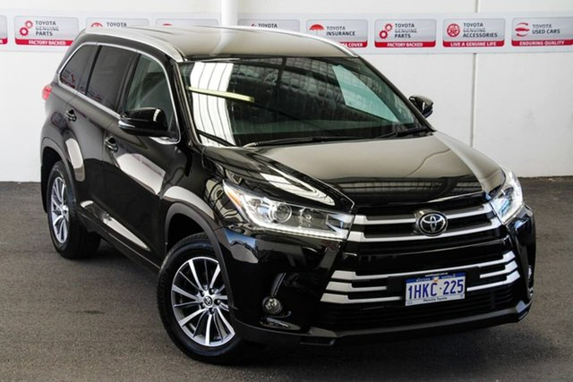 Pre-Owned Toyota Kluger GSU50R GXL 2WD Myaree, 2019 Toyota Kluger GSU50R GXL 2WD Eclipse Black 8 Speed Sports Automatic Wagon