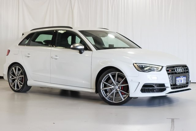 Used Audi S3 8V MY16 Sportback S Tronic Quattro Wangara, 2016 Audi S3 8V MY16 Sportback S Tronic Quattro White 6 Speed Sports Automatic Dual Clutch Hatchback