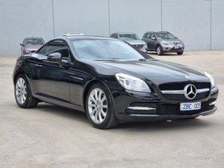 2012 Mercedes-Benz SLK-Class R172 SLK200 BlueEFFICIENCY 7G-Tronic + Black 7 Speed Sports Automatic