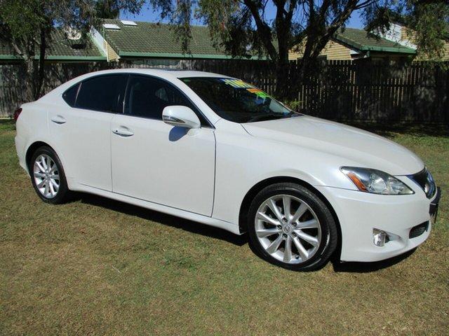 Used Lexus IS GSE20R MY09 IS250 Prestige Kippa-Ring, 2009 Lexus IS GSE20R MY09 IS250 Prestige White 6 Speed Sports Automatic Sedan