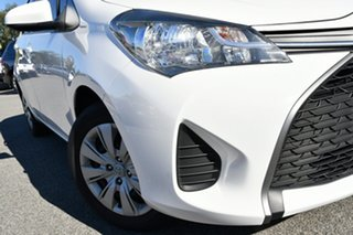 2015 Toyota Yaris NCP130R Ascent White 4 Speed Automatic Hatchback.