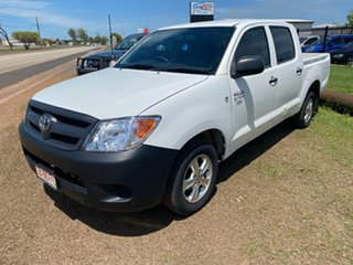 2006 Toyota Hilux TGN16R MY05 Workmate 4x2 White 5 Speed Manual Utility.