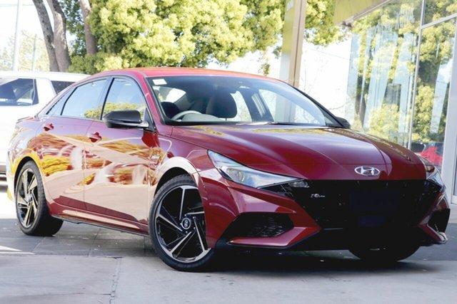 New Hyundai i30 CN7.V1 MY21 N Line D-CT Launceston, 2021 Hyundai i30 CN7.V1 MY21 N Line D-CT Fiery Red 7 Speed Sports Automatic Dual Clutch Sedan