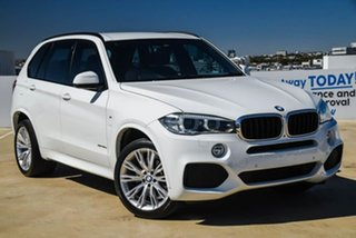 2014 BMW X5 F15 xDrive30d White 8 Speed Sports Automatic Wagon.