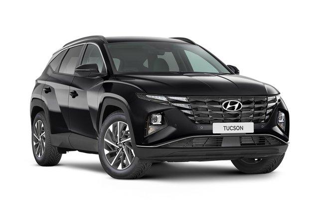 New Hyundai Tucson NX4.V1 MY22 Elite D-CT AWD Geelong, 2021 Hyundai Tucson NX4.V1 MY22 Elite D-CT AWD Phantom Black 7 Speed Automatic Wagon