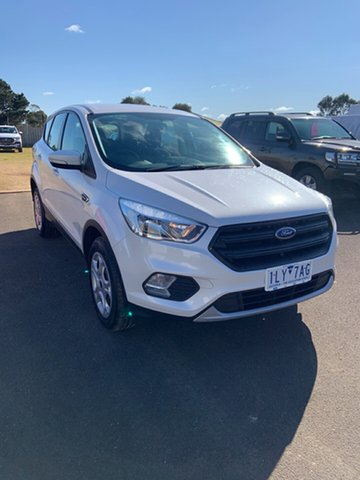 Used Ford Escape ZG Ambiente Warrnambool East, 2017 Ford Escape ZG Ambiente White Platinum 6 Speed Sports Automatic SUV