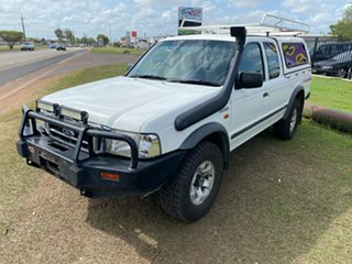 2004 Ford Courier PG XL Super Cab White 5 Speed Manual Utility.