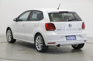 2014 Volkswagen Polo 6R MY15 81TSI DSG Comfortline Pure White 7 Speed Sports Automatic Dual Clutch.