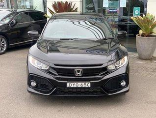 2018 Honda Civic 10th Gen MY18 VTi-L Black 1 Speed Constant Variable Hatchback.