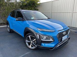 2018 Hyundai Kona OS MY18 Highlander 2WD Blue Lagoon & Black Roof 6 Speed Sports Automatic Wagon.
