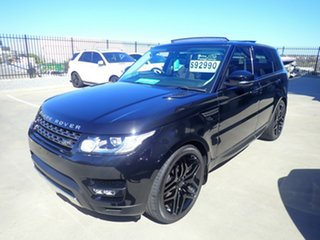 2016 Land Rover Range Rover LW MY16.5 Sport 3.0 TDV6 SE Santorini Black 8 Speed Automatic Wagon.