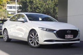 2021 Mazda 3 BP2S7A G20 SKYACTIV-Drive Evolve Snowflake White 6 Speed Automatic Sedan.