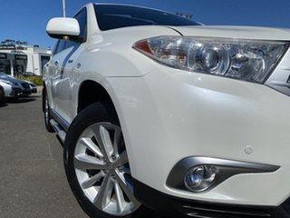 2013 Toyota Kluger GSU45R MY12 Grande AWD Pearl White 5 Speed Sports Automatic Wagon.