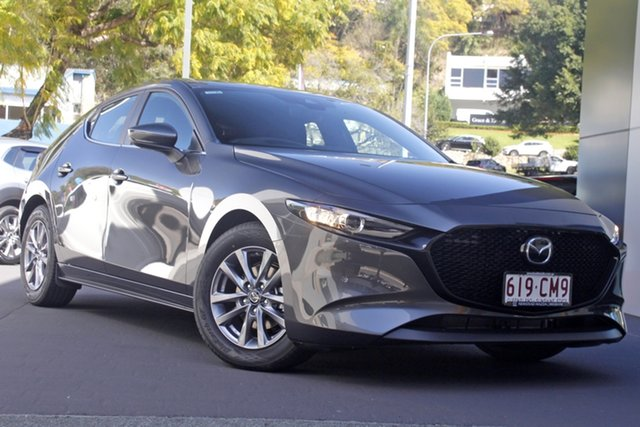 Demo Mazda 3 BP2H7A G20 SKYACTIV-Drive Pure Newstead, 2021 Mazda 3 BP2H7A G20 SKYACTIV-Drive Pure Machine Grey 6 Speed Sports Automatic Hatchback