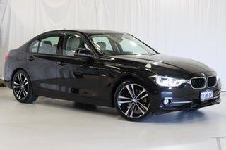 2018 BMW 3 Series F30 LCI 320d Sport Line Black 8 Speed Sports Automatic Sedan.