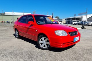 2005 Hyundai Accent LC MY04 GL Red 4 Speed Automatic Hatchback.