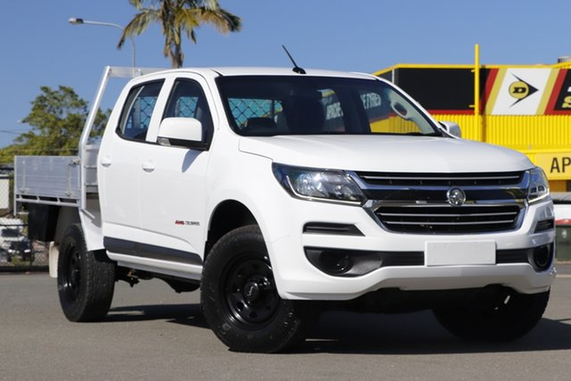 Used Holden Colorado RG MY19 LS Pickup Crew Cab Rocklea, 2018 Holden Colorado RG MY19 LS Pickup Crew Cab Summit White 6 Speed Manual Utility