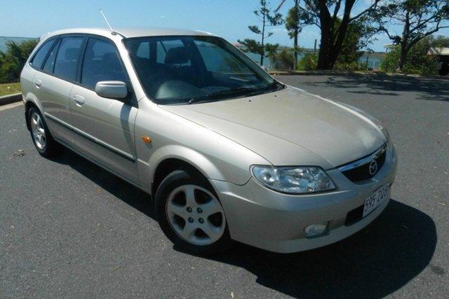 Used Mazda 323 BJ Astina Gladstone, 2001 Mazda 323 BJ Astina Gold 5 Speed Manual Hatchback