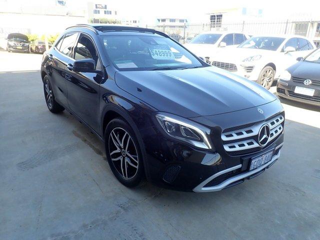 Used Mercedes-Benz GLA180 X156 MY18 Wangara, 2017 Mercedes-Benz GLA180 X156 MY18 Black Magic 7 Speed Auto Dual Clutch Wagon