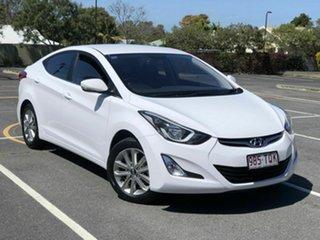 2014 Hyundai Elantra MD3 Trophy White 6 Speed Sports Automatic Sedan.