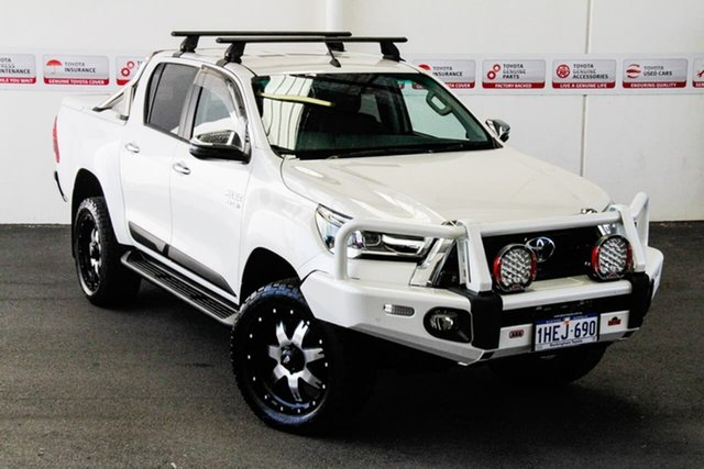 Pre-Owned Toyota Hilux GUN126R SR5 Double Cab Rockingham, 2020 Toyota Hilux GUN126R SR5 Double Cab Crystal Pearl 6 Speed Sports Automatic Utility