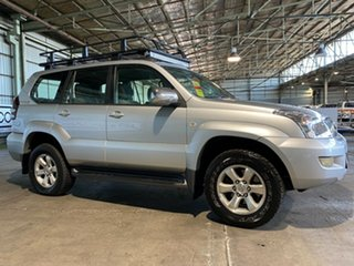 2003 Toyota Landcruiser Prado GRJ120R GXL Silver 4 Speed Automatic Wagon.
