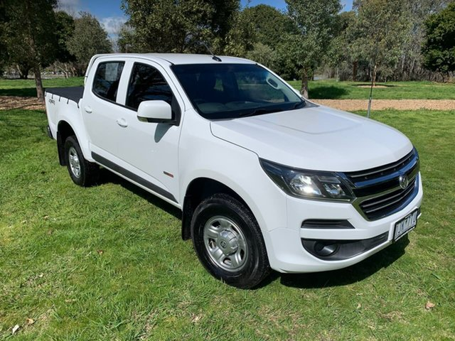 Used Holden Colorado RG MY17 LS Pickup Crew Cab Wodonga, 2016 Holden Colorado RG MY17 LS Pickup Crew Cab White 6 Speed Sports Automatic Utility