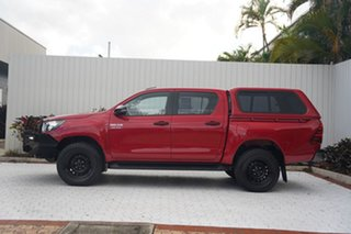 2018 Toyota Hilux GUN126R SR Double Cab Red 6 Speed Sports Automatic Utility