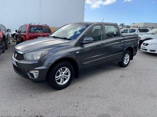 2012 Ssangyong Actyon Sports Q100 MY08 Grey 6 Speed Automatic Double Cab Utility.