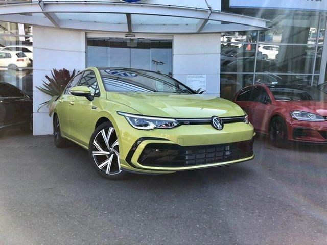New Volkswagen Golf 8 MY21 110TSI R-Line Sutherland, 2021 Volkswagen Golf 8 MY21 110TSI R-Line Pomelo Yellow 8 Speed Sports Automatic Hatchback
